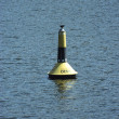 Buoy floating at the lake — Stock Photo