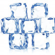 Clear transparent ice blocks — Stock Photo