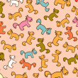 2014 year of horse pattern — Vector de stock #36519607
