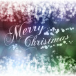 Merry Christmas greeting postcard with colurful background — 图库矢量图片
