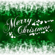 Merry Christmas greeting postcard with green background — Imagen vectorial