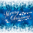 Vector de stock : Merry Christmas greeting postcard with blue background