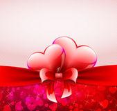 Romantiskt vykort med hjärtan — Stockvektor