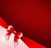 Dark red postcard with ribbon — Vector de stock