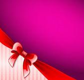 Dark violet postcard with ribbon — Vector de stock