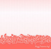 Pink Valentine's day postcard — Vector de stock