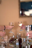 Glasses, toast, celebration — Stock Photo