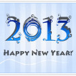 Royalty-Free Stock Imagen vectorial: Blue white marsh New Year's card