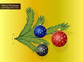 Fir-tree branch — Stock Vector