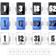 Stock Vector: Countdown timers set