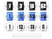 Countdown timers set — Stock Vector