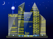 City night — Vector de stock