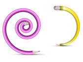 Spiral-bleistifte — Stockvektor