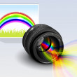 Rainbow of the lens — Stock Vector