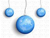 Christmas balls on a string — Stockvector