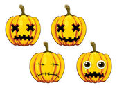 Painted pumpkins — Stock Vector