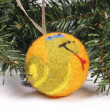 Christmas toys, balls on the Christmas tree — Stock Photo