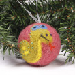 Christmas toys, balls on the Christmas tree — Stock Photo #15705413