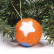 Christmas toys, balls on the Christmas tree — Stock Photo #15705425