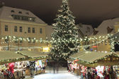 Christmas market in Raekoja plats, Tallinn, Estonia — Stock Photo
