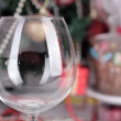 Red wine is poured into a glass — Vídeo de stock