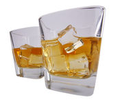 Two glass with brandy — Foto Stock