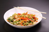 Vegetable salad with chicken — 图库照片