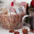 Christmas treats and mulled wine — Stock Video