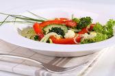 Tabak sebze salatası — Stok fotoğraf