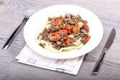 Spaghetti i mięsa — Zdjęcie stockowe