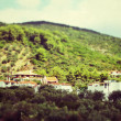 Houses at Alonisos by Tiltshift lens — Stock Photo