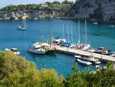 Patitiri port view, Alonissos Greece — Stock Photo