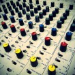 Vintage Mixer Board - Stock Photo