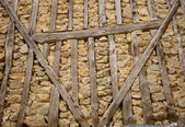 Stone and wood wall — Stock Photo