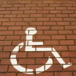 Handicapped Parking Sign — Stock Photo