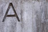 Carta de um concreto no — Foto Stock