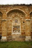 Ruiny klasztoru okno — Zdjęcie stockowe