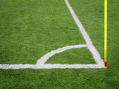 Soccer Corner Lines — Stock Photo