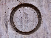 Circle on Concrete Wall — Stock Photo