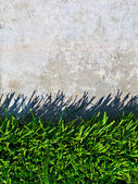 Grass and Concrete Background — Stock Photo