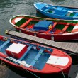 Small Colorful Fishing Boats — Stock Photo