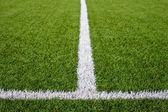 линии поля футбол — Стоковое фото