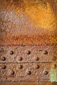 Rusty Metal Plate with Rivets — Stock Photo