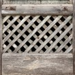 Old lattice of the window — Stock Photo