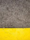Cement and Yellow Paint — Stock Photo