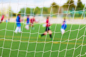 Soccer Match Selective Focus — Stockfoto