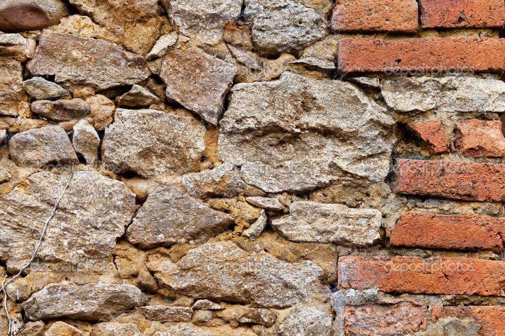 Vecchio muro di pietra e mattoni foto stock demachy for Mattoni e pietra americani