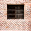 Ancient window with awesome grid  — Stock Photo