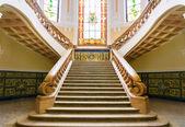 Old marble staircase — Stock Photo