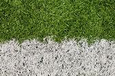 Soccer Field Line Detail — 图库照片